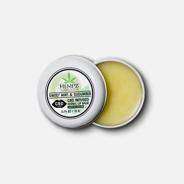 CBD Sweet Mint & Cucumber Herbal Lip Balm, Inside