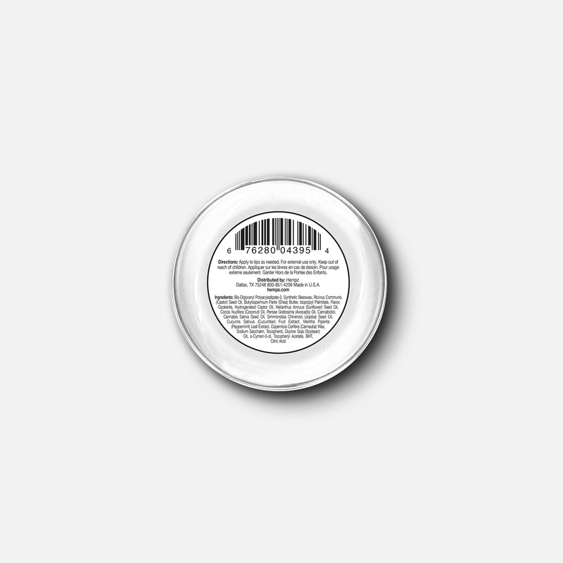Hempz CBD Lip Balm, Back