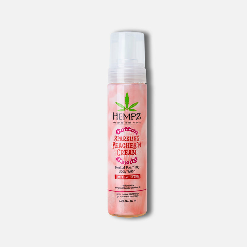 Hempz Cotton Candy Sparkling Peaches 'n Cream Herbal Foaming Body Wash