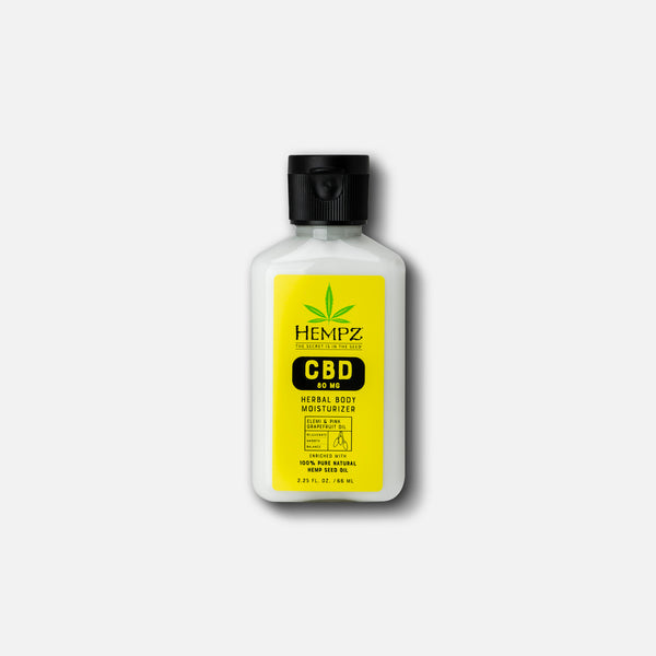 Travel-Size CBD Aromatherapy Elemi & Pink Grapefruit Oil Herbal Body Moisturizer