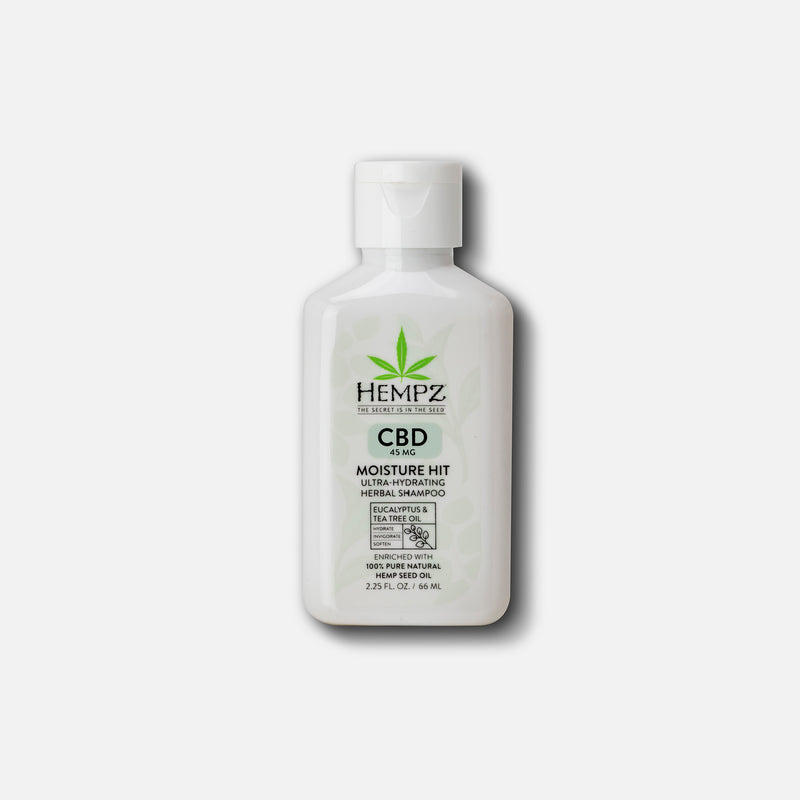 Hempz Travel-Size CBD Moisture Hit Ultra-Hydrating Herbal Shampoo