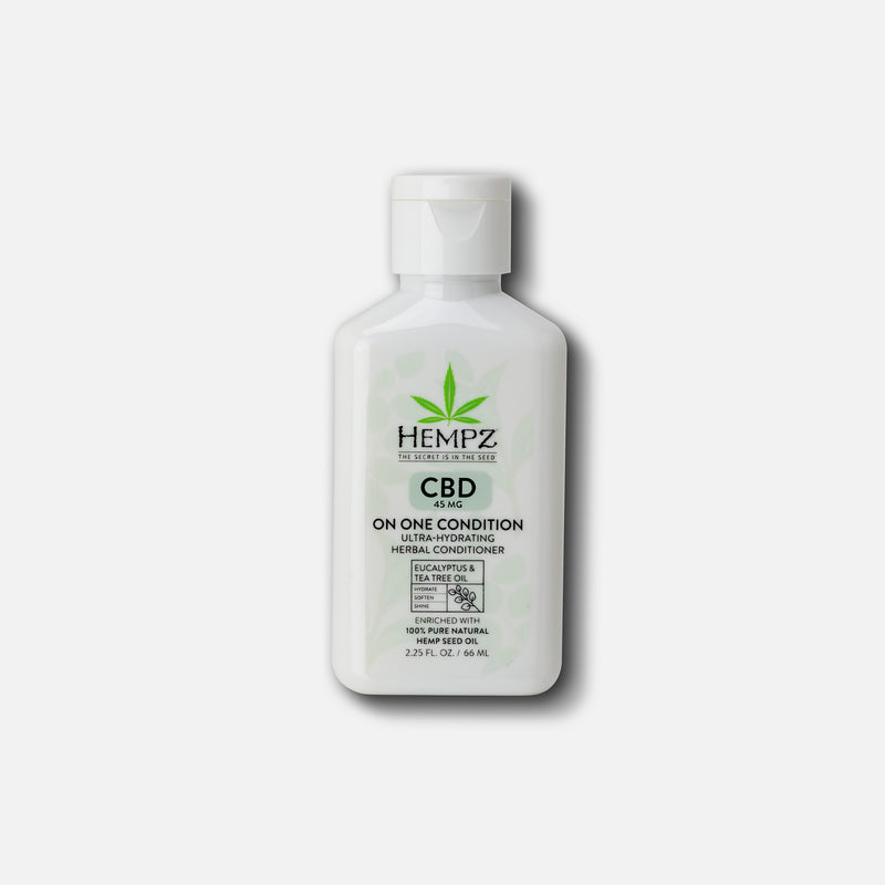 Hempz Travel-Size CBD On One Condition Ultra-Hydrating Herbal Conditioner