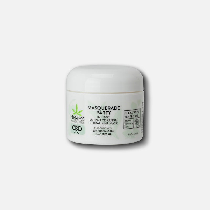 Hempz Travel-Size CBD Masquerade Party Instant Ultra-Hydrating Herbal Hair Mask