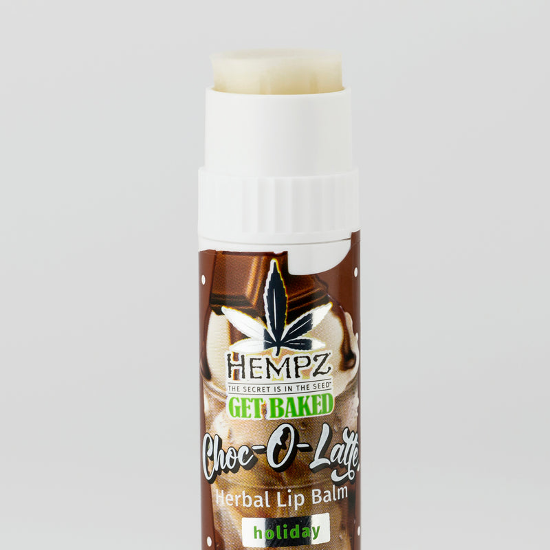 Hempz Choc-o-Latte Herbal Lip Balm, Open