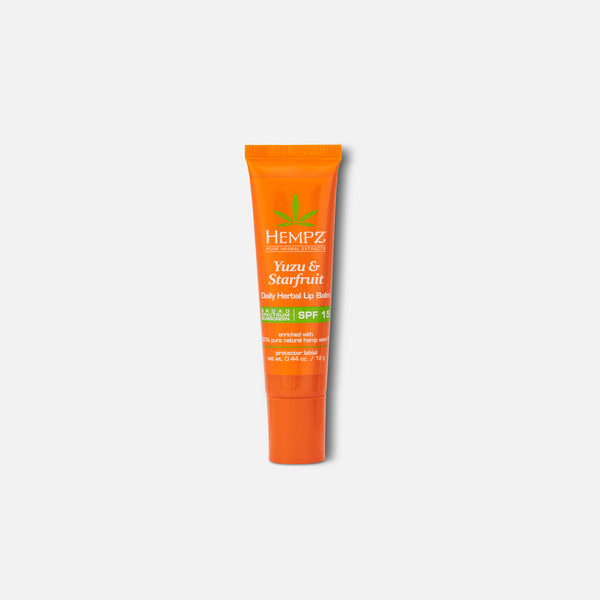 Hempz Daily SPF Yuzu & Starfruit Herbal Lip Balm with SPF 15 0.44 oz