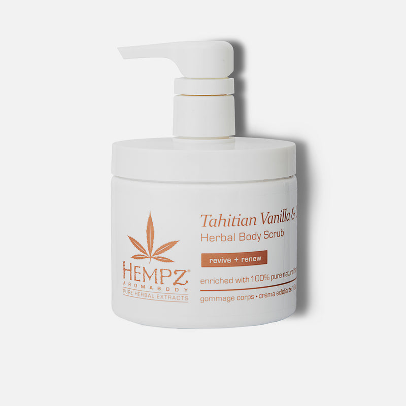 Hempz AromaBody Tahitian Vanilla & Ginger Herbal Body Scrub