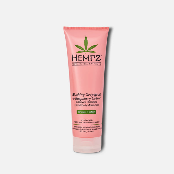 Hempz Blushing Grapefruit & Raspberry Crème In-Shower Hydrating Herbal Body Moisturizer 8.5 fl oz