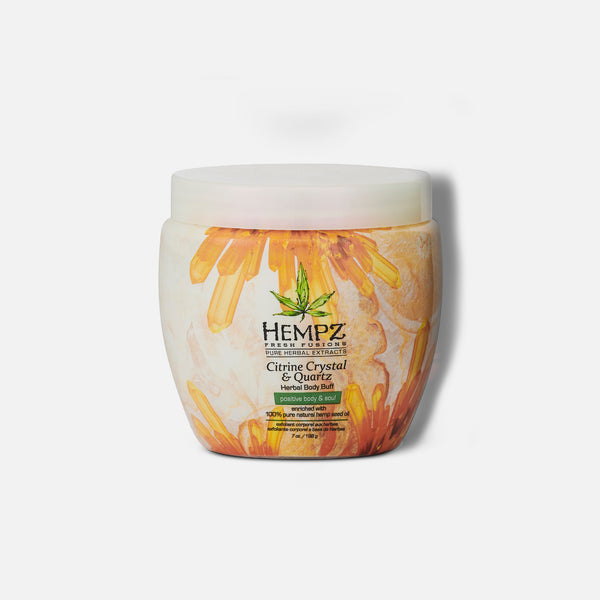 Hempz Fresh Fusions Citrine Crystal & Quartz Herbal Body Buff 7 oz