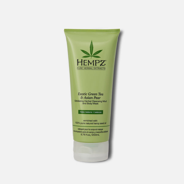 Hempz Exotic Green Tea & Asian Pear Exfoliating Herbal Cleansing Mud & Body Mask 6.76 fl oz