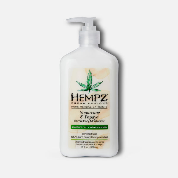 Hempz Fresh Fusions Sugarcane & Papaya Herbal Body Moisturizer 17 fl oz