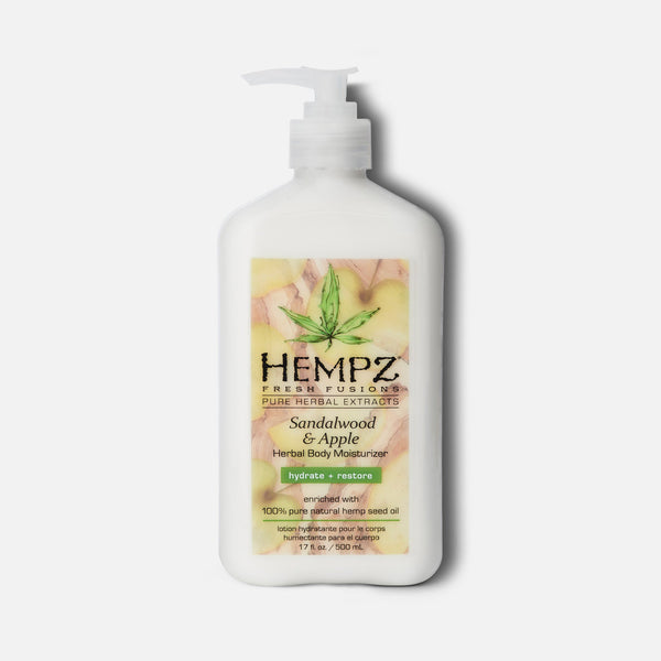 Hempz Fresh Fusions Sandalwood & Apple Herbal Body Moisturizer 17 fl oz