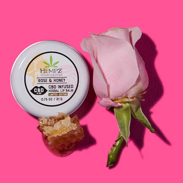 Hempz CBD Rose Honey Lip Balm