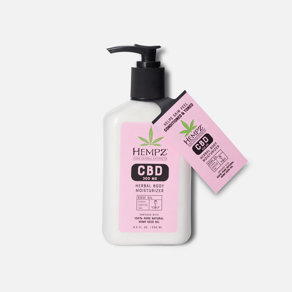 Hempz CBD Aromatherapy Rose Oil Herbal Body Moisturizer 8.5 fl oz