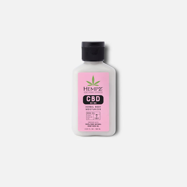 Travel-Size CBD Aromatherapy Rose Oil Herbal Body Moisturizer