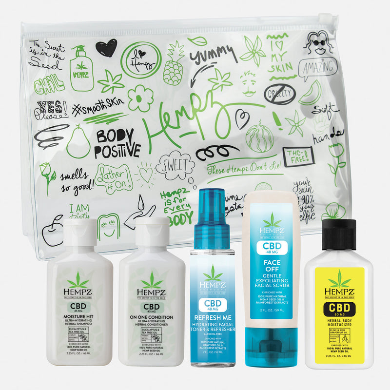 Hempz First Class Fav's CBD Body & Hair Travel Kit