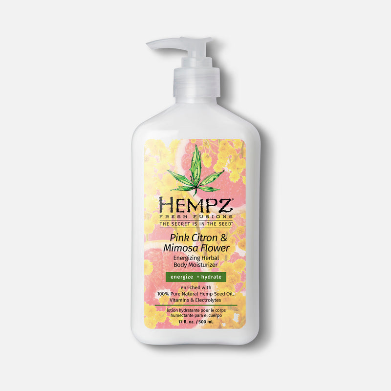 Hempz Fresh Fusions Pink Citron Mimosa Flower Energizing Herbal Body Moisturizer