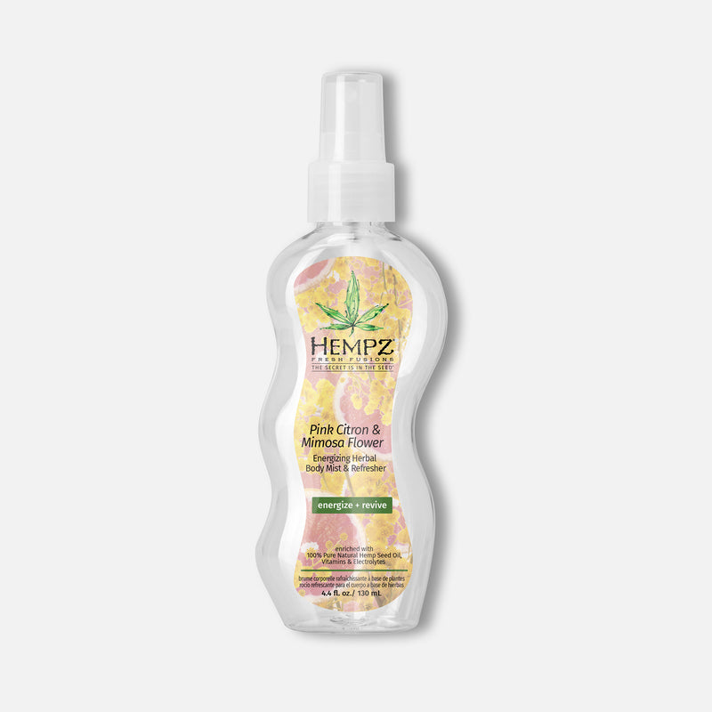 Hempz Fresh Fusions Pink Citron & Mimosa Flower Energizing Herbal Body Mist & Refresher