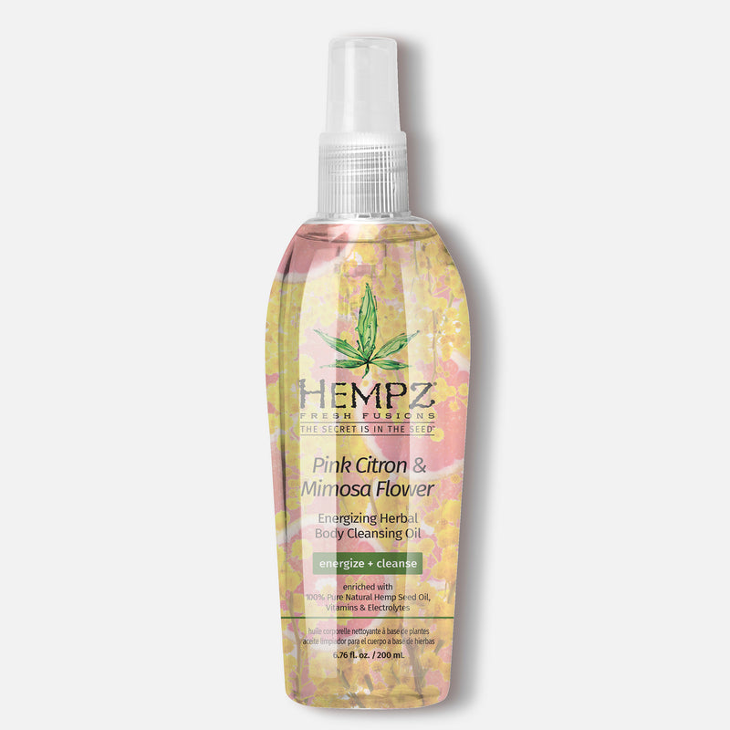 Hempz Fresh Fusions Pink Citron & Mimosa Flower Energizing Hydrating Herbal Cleansing Oil