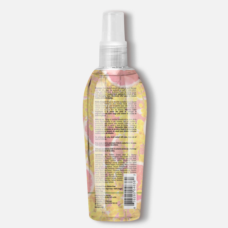Hempz Fresh Fusions Pink Citron & Mimosa Flower Energizing Hydrating Herbal Cleansing Oil, Back