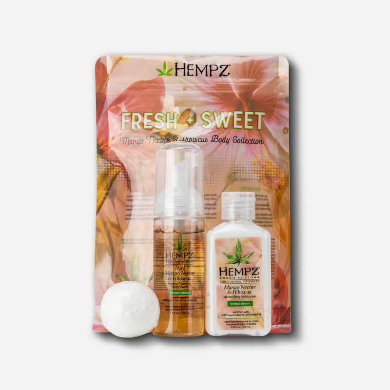 Hempz Fresh & Sweet Mango Nectar & Hibiscus Body Collection Set, Front