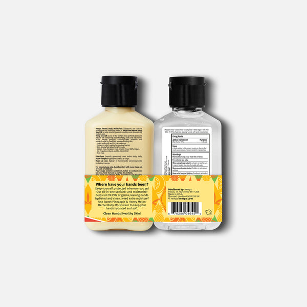 Sweet Pineapple & Honey Melon Sanitizer & Lotion Duo, Back