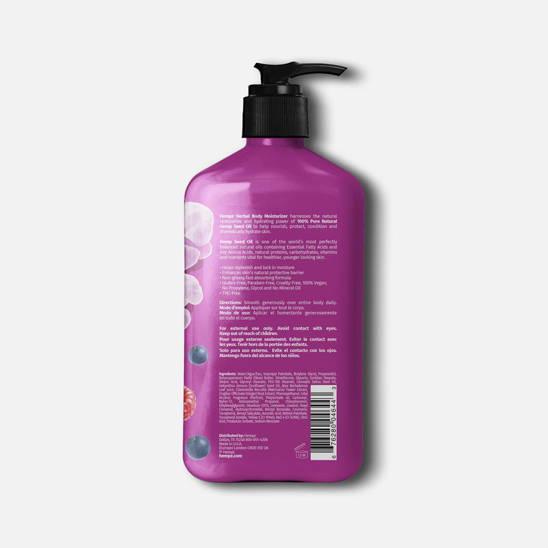 Hempz Limited-Edition Fresh Orchid & Wild Berry Herbal Body Moisturizer, Back
