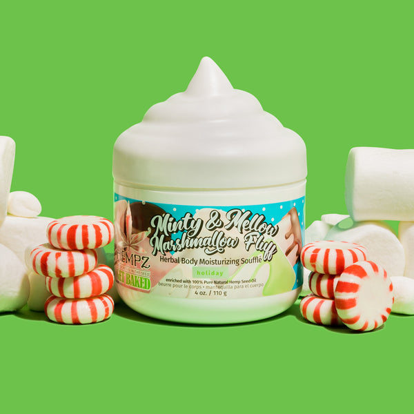 Hempz Limited-Edition Minty & Mellow Marshmallow Fluff Herbal Body Moisturizing Souffle