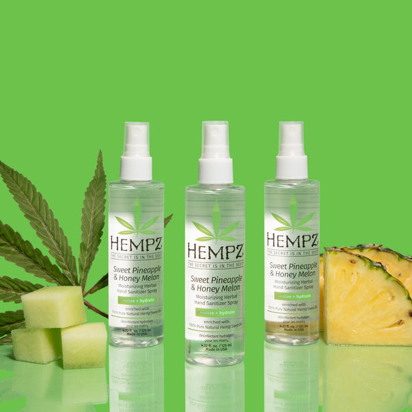 Hempz Limited-Edition Sweet Pineapple & Honey Melon Moisturizing Herbal Hand Sanitizer Spray, Editorial