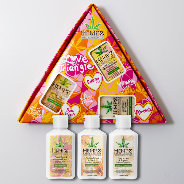 Hempz Love Triangle Travel-Size Fresh Fusions Moisturizer Set