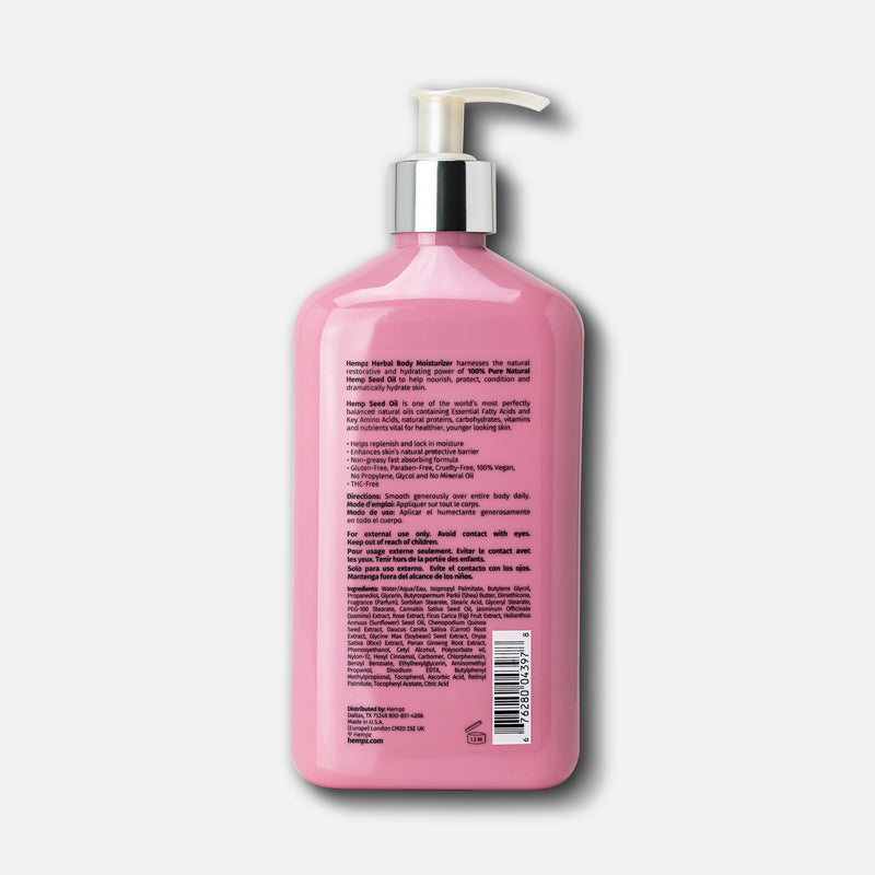 Hempz Sweet Jasmine & Rose Body Lotion, Back