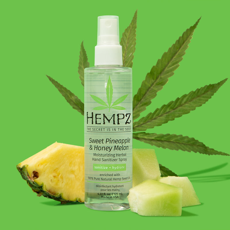 Hempz Sweet Pineapple & Honey Melon Moisturizing Herbal Hand Sanitizer Spray