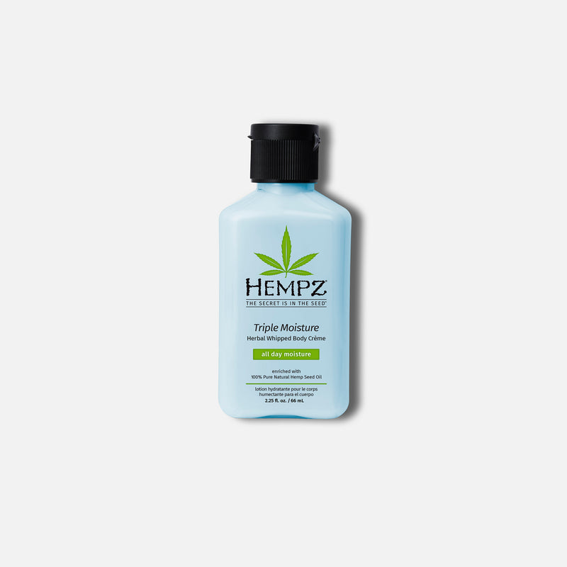 Hempz Travel-Size Triple Moisture Herbal Whipped Body Creme Lotion