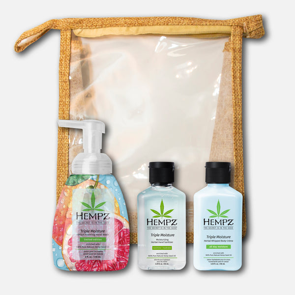 Hempz Triple Moisture Soap, Sani & Lotion Bundle