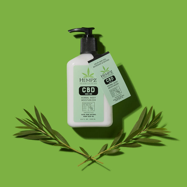 Hempz CBD Aromatherapy Eucalyptus & Tea Tree Oil Herbal Body Moisturizer