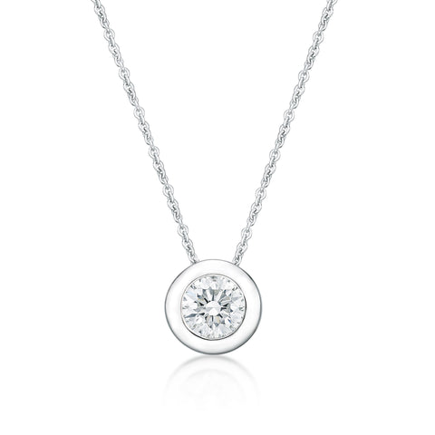 Sterling Silver CZ Necklace.