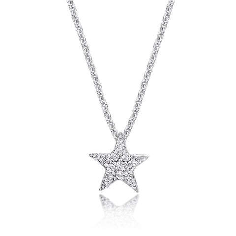 Sterling Silver CZ Star Necklace