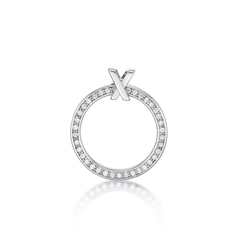 Sterling Silver CZ Circle Pendant