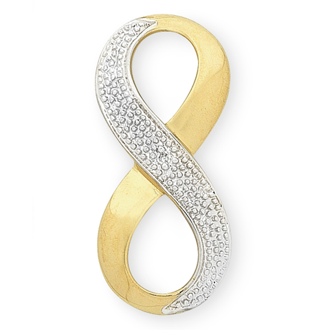 9ct Gold Diamond Set Infinity Pendant