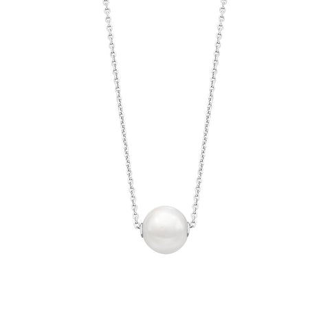 Fresh Water Pearl Sterling Silver Necklace