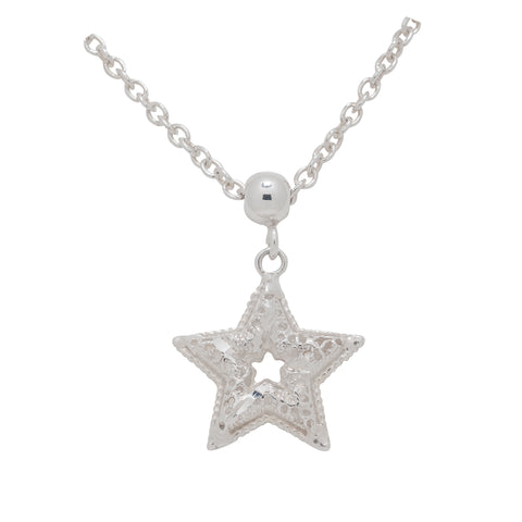 Sterling Silver Star Shaped Necklace