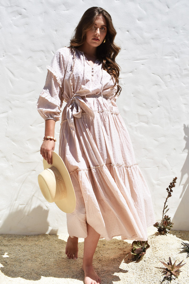 Cotton Dusty Pink Florence Dress