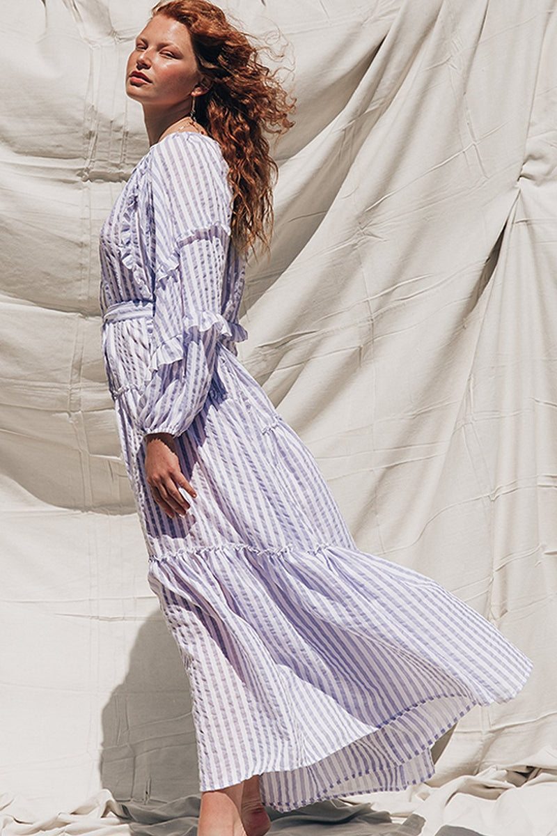 Florence Maxi Soft Blue Stripe