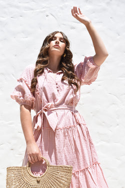 Cotton Florence  Dress Petal Pink
