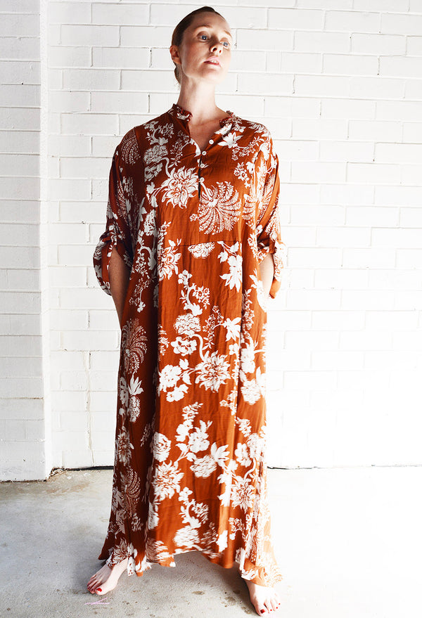 Willow Dress Floral Print Rust