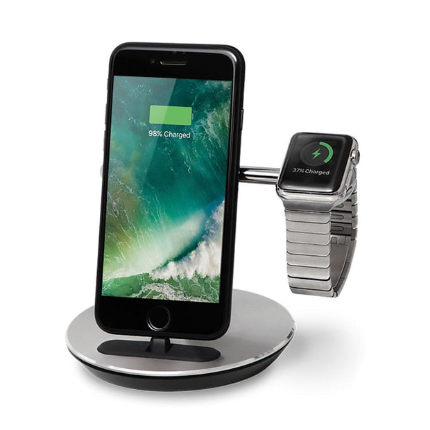 Freedy Phone and Apple Watch Charging Set, Chrome