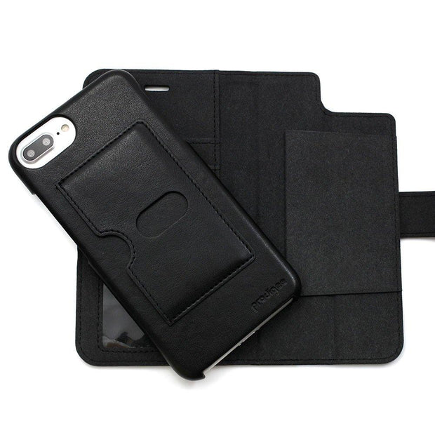 Prodigee Wallegee, Protective Case for iPhone 6+/6S+/7+/8+, Black