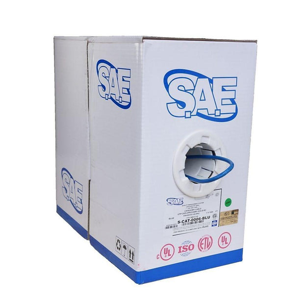 SAE Cat 6 23 AWG 4P Cable Pull Box, 1000Ft
