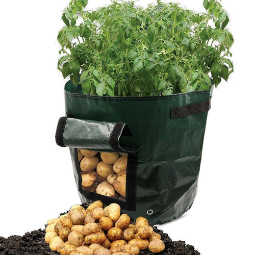 Potato Grow Planter PE Container Bag Vegetables Garden Outdoor