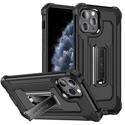 Strong Anti-Fall Metal Kickstand Phone Case For iPhone 11-Series