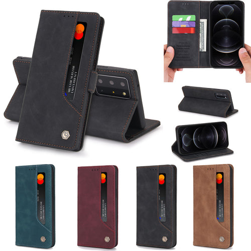 Retro Classic Magnetic Wallet Case For Samsung Note Series